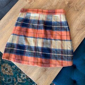Lulu's Plaid Mini Skirt, Size Small. NWT
